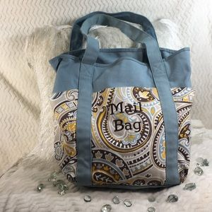 """Thirty-one paisley tote """"mail bag"""""""